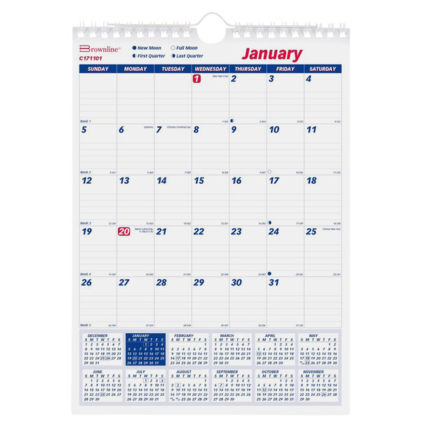 Brownline C171101 8 X 11 Monthly January 2021 December