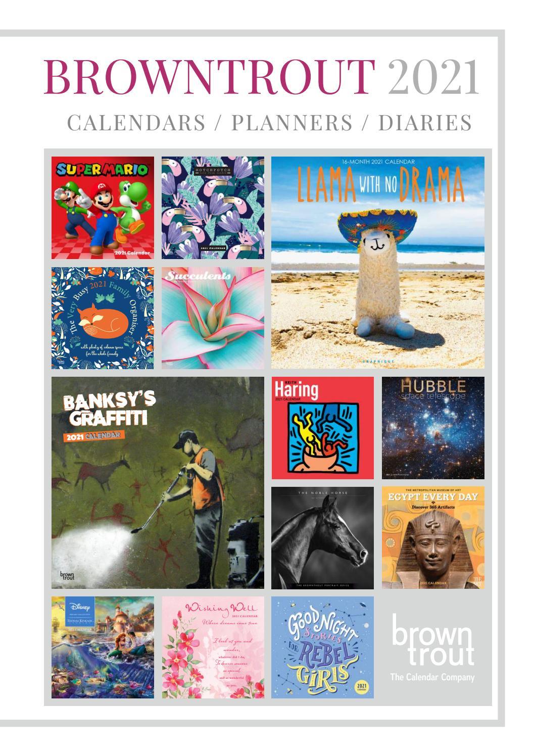 Browntrout Publishers Ltd Uk 2021 Calendar Catalogue
