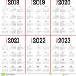 Calander Next 10 Years Calendar Template 2020
