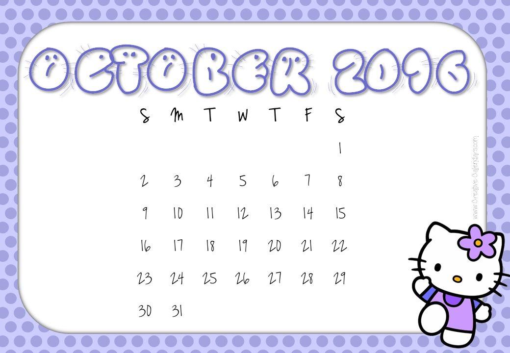 Calendar 2016 October And November Calendar Printables