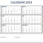 Calendar 2019 Template Templates At Allbusinesstemplates
