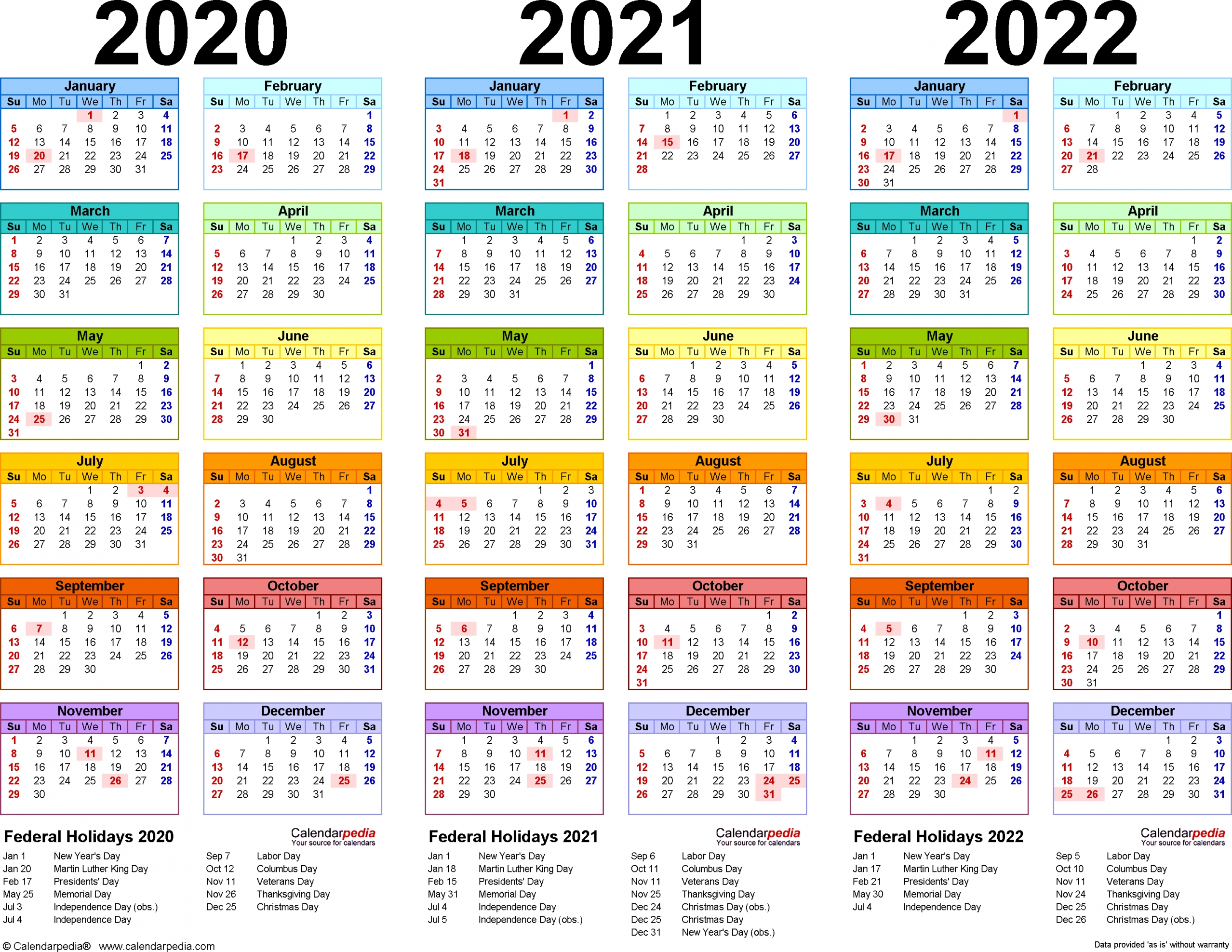 Calendar 2020 And 2021 Printable Free Letter Templates