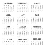 calendar 2020 printable one page paper trail design 1