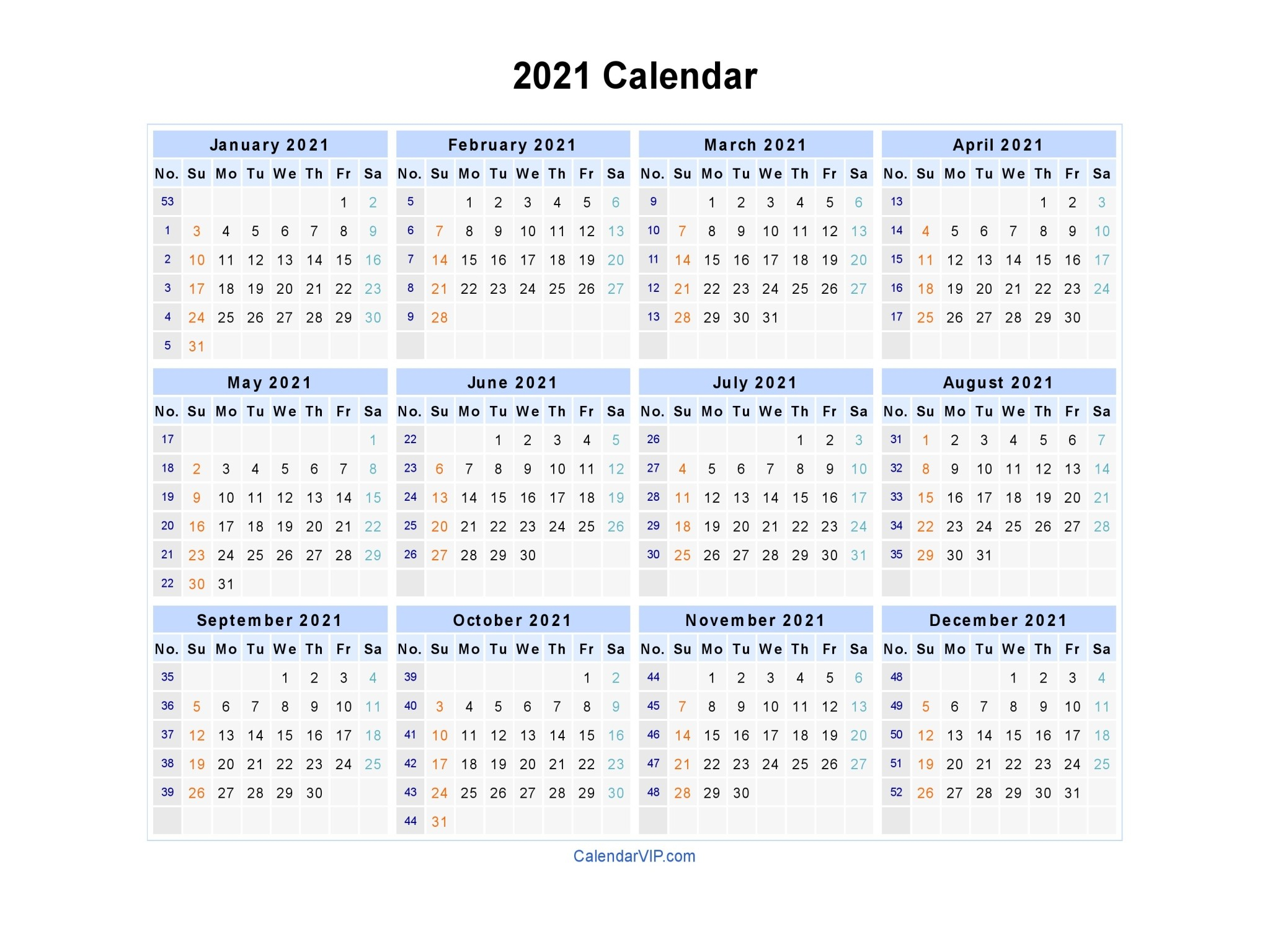 Calendar 2021 Fillable Weekly For Time Saving Free