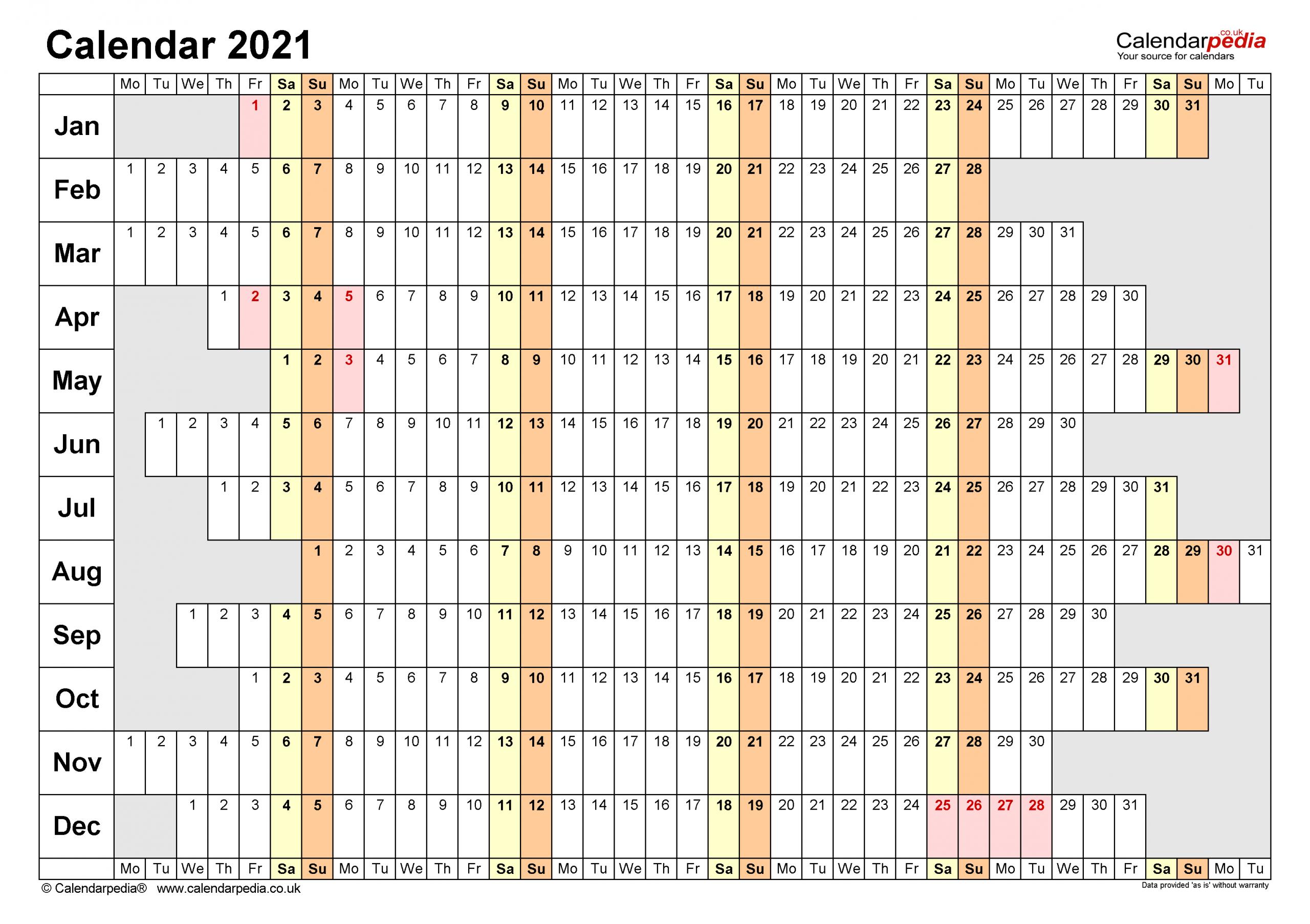 calendar 2021 uk free printable microsoft word templates 1