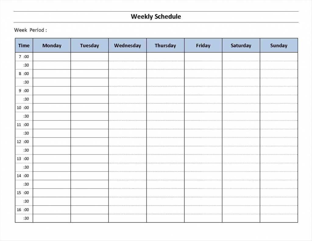 Calendar Fpr 7 Days Calendar Template 2020