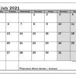 Calendar July 2021 Scotland Michel Zbinden En