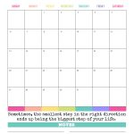 Calendar Monthly Print Out
