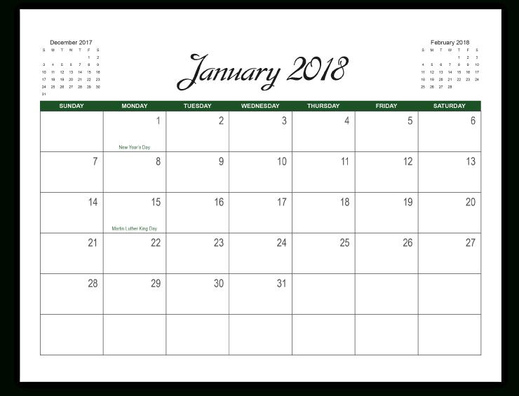 Calendar Template Printingcenterusa