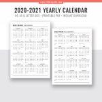 Calendar Week At A Glance Template 2020 Calendar
