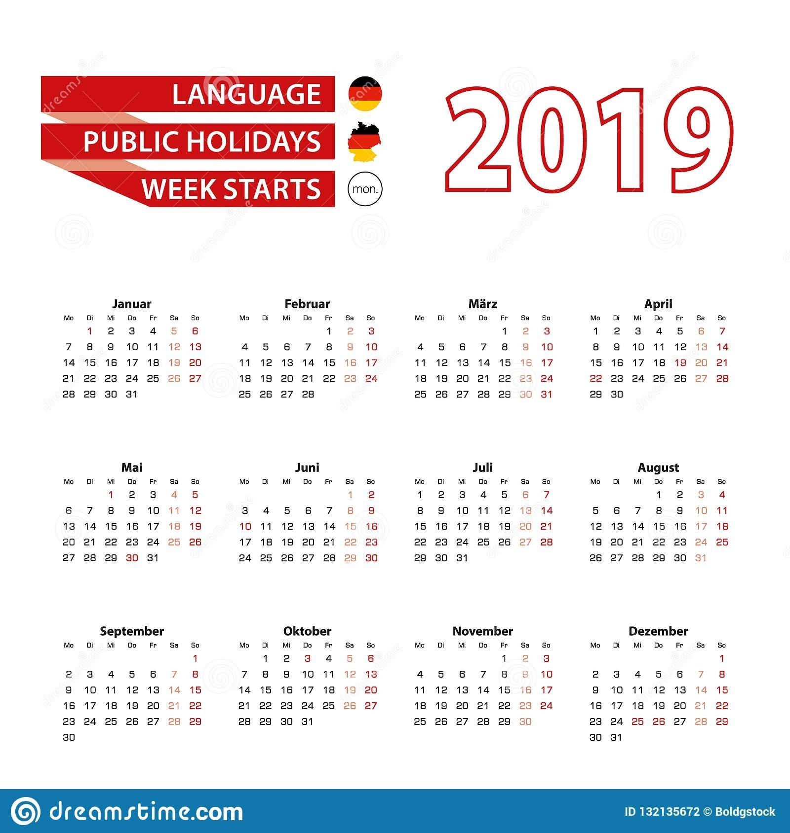 Calendar Week In Germany Ten Free Printable Calendar
