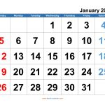 Calendar With Special Days 2020 Calendar Template