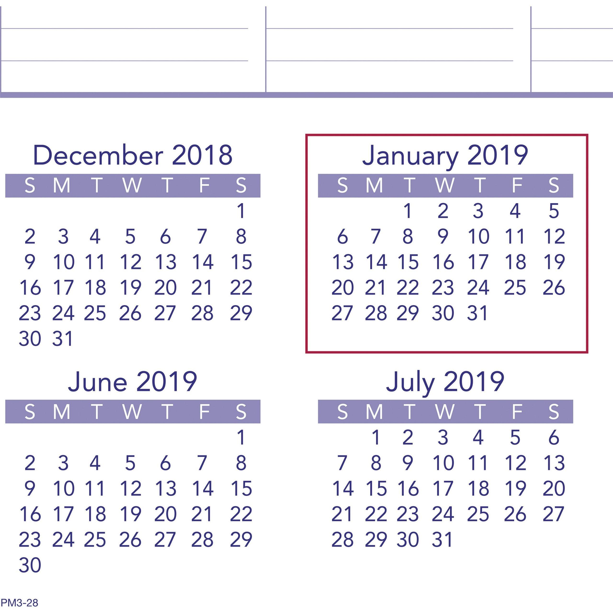 Calendar Zoom December 2019 Calendar Template Printable