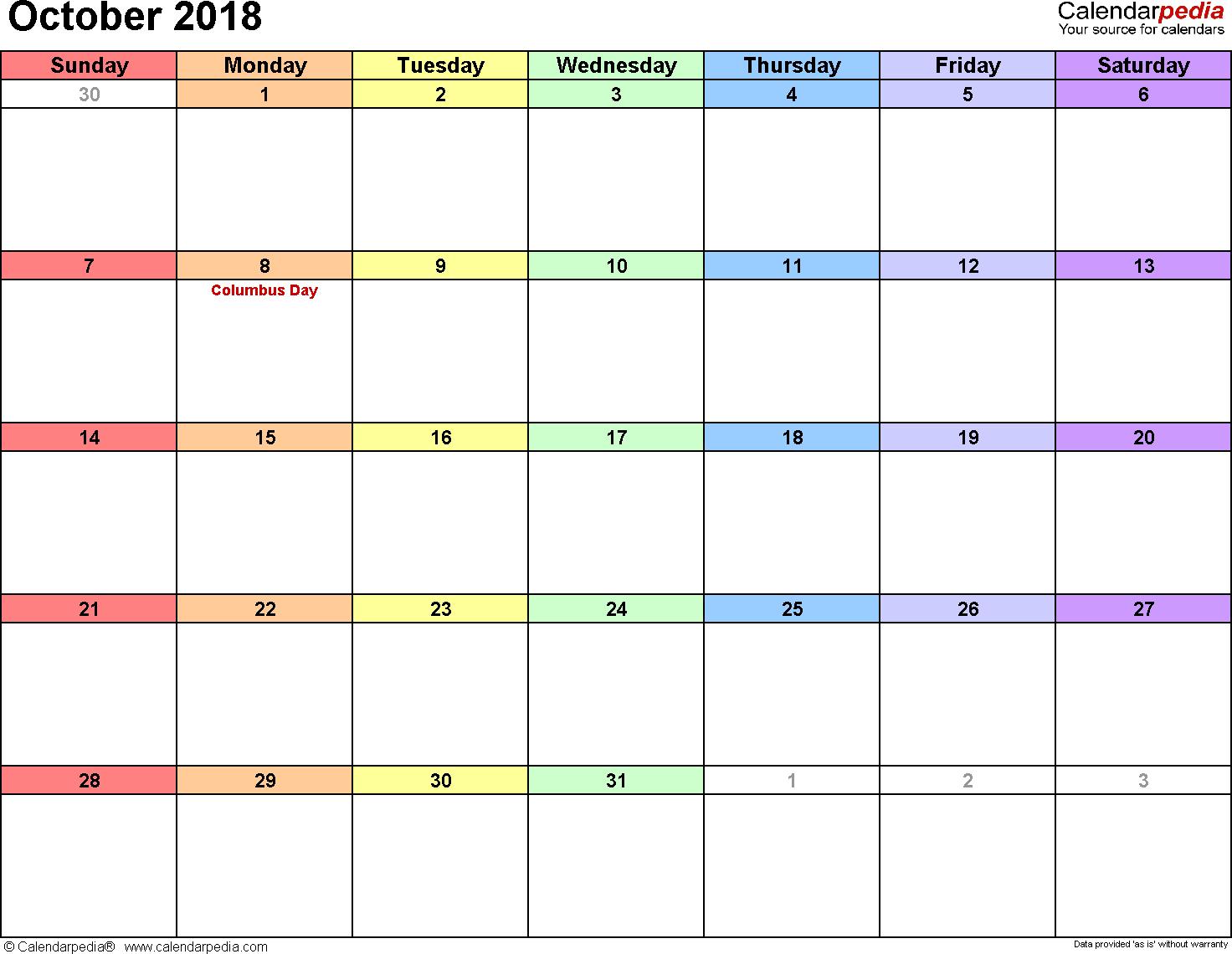 Calendarpedia Word Templates For All Kinds Of Calendar