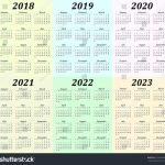 Calenderv 10 Years Calendar Template 2020