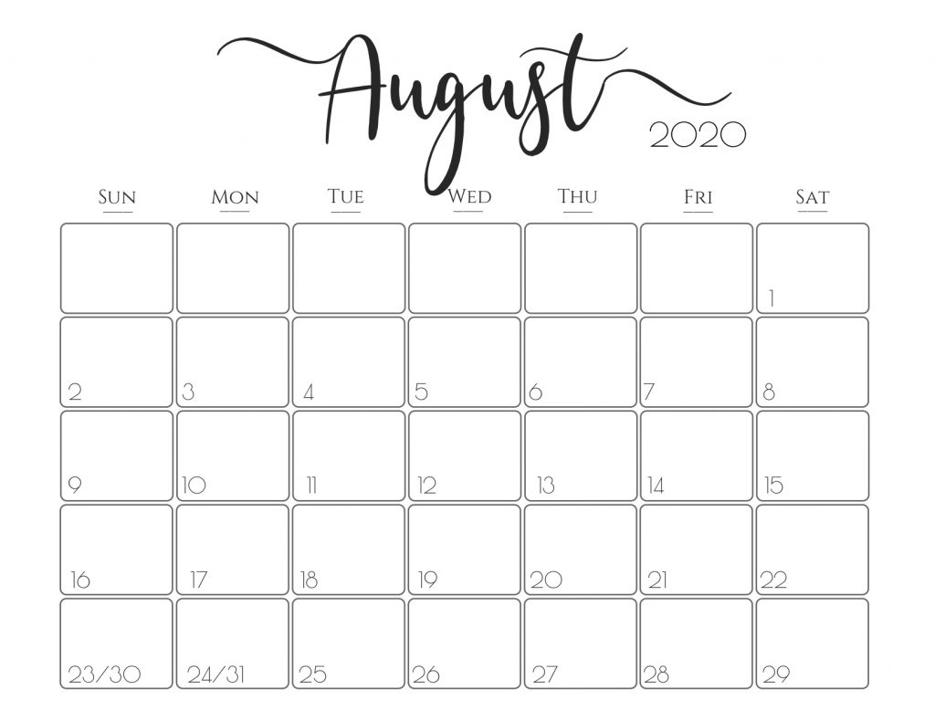 Catch Print Free Calendars Without Downloading August 2020