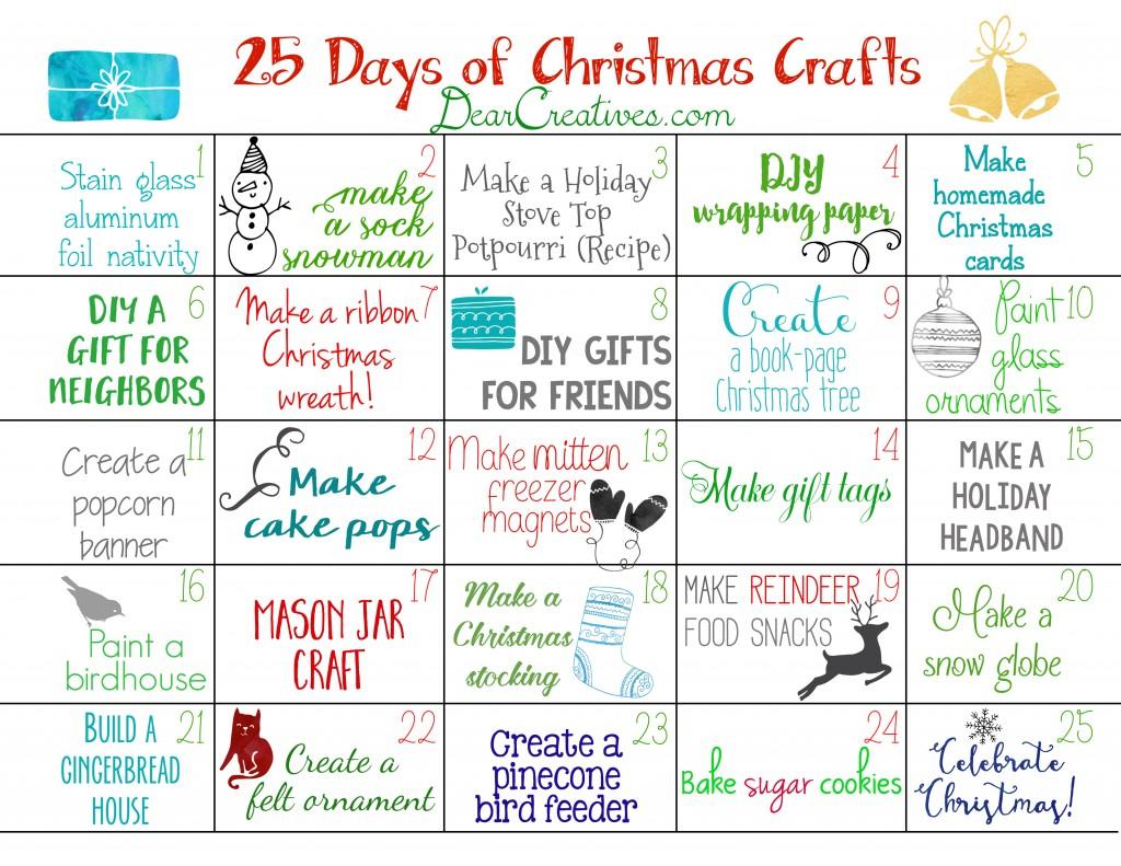 Christmas Countdown Calendar Craft Free Printable