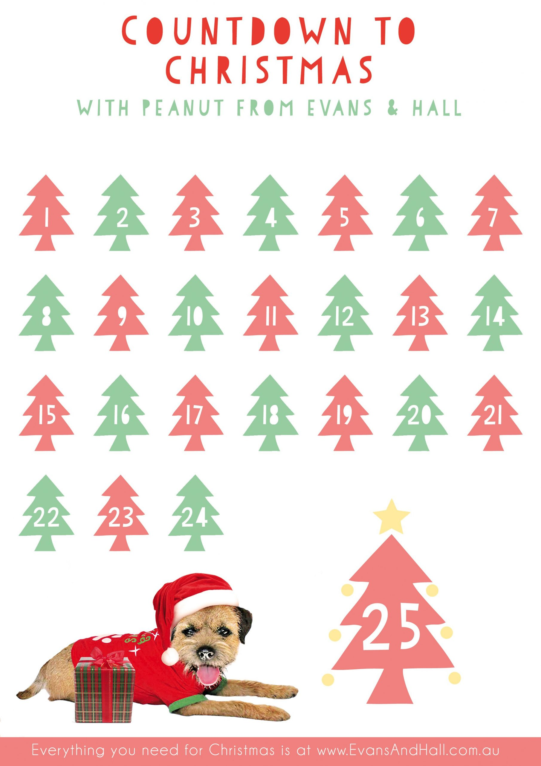 Christmas Countdown Free Download Printable Calendar