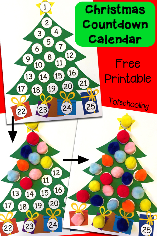 Christmas Countdown Printable Advent Calendar 1