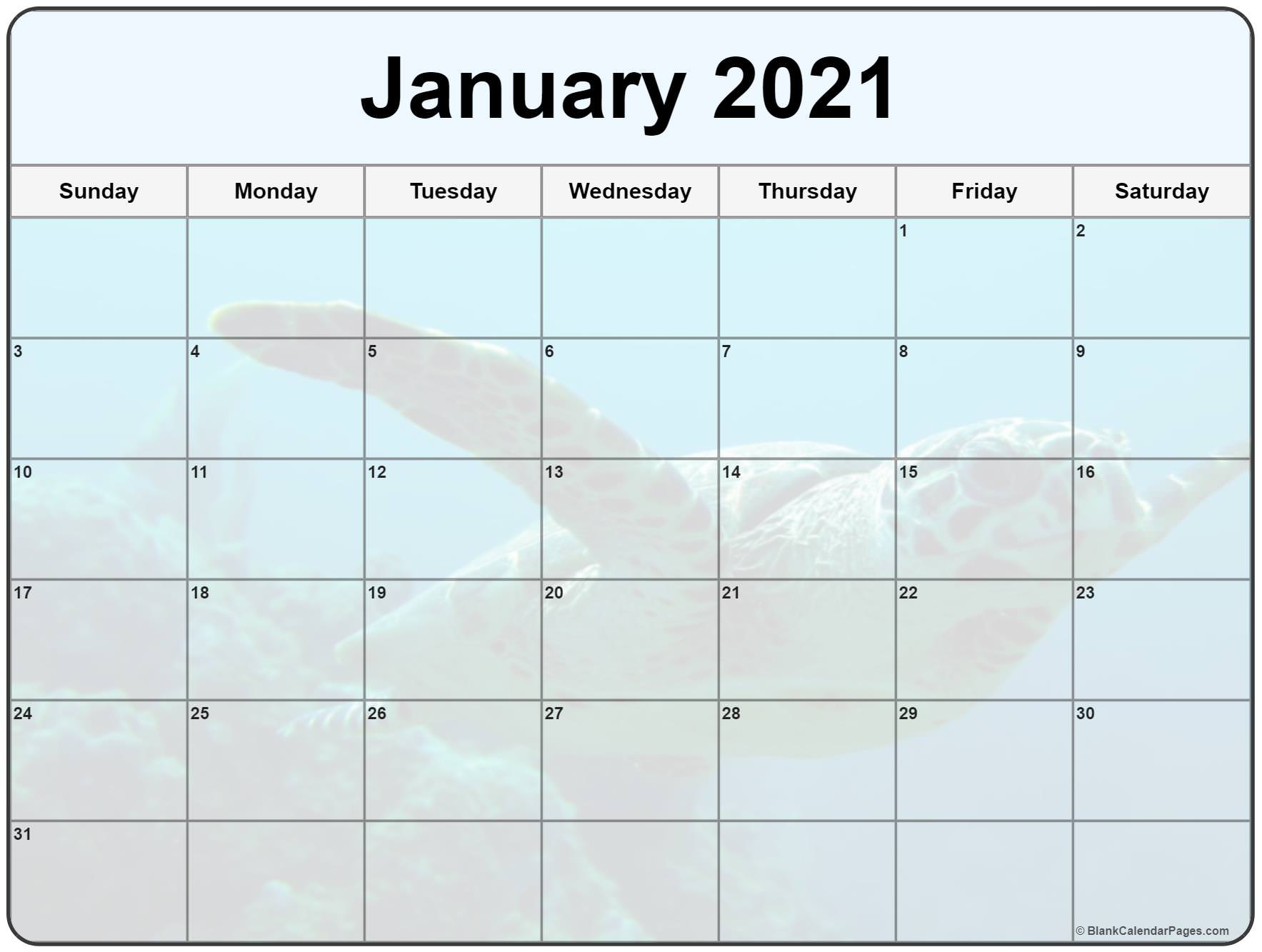 Collection Of January 2021 Photo Calendars With Image Filters 1