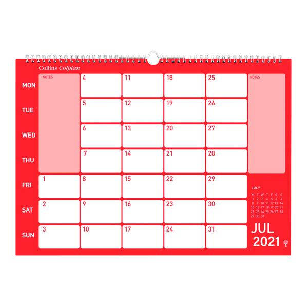Collins Memo Calendar A3 2021 Cmc Sweet Briar Office