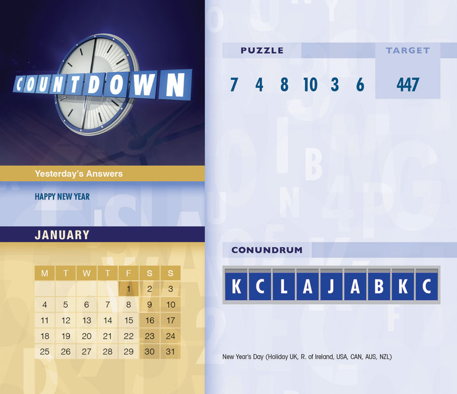 Countdown Desk Calendar 2021 Desk Calendars Carousel