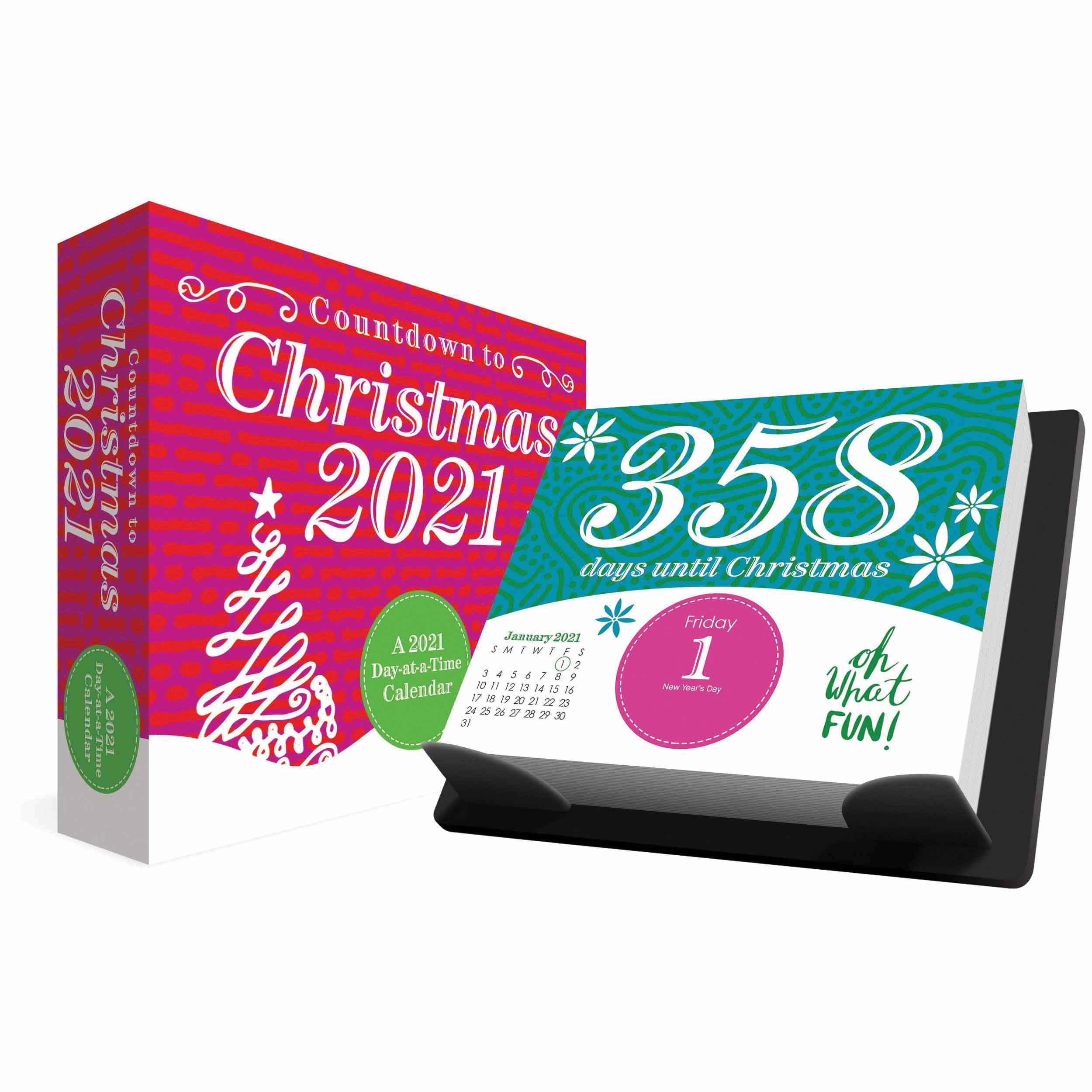 Countdown To Christmas Desk Calendar 2021 At Calendar Club 1