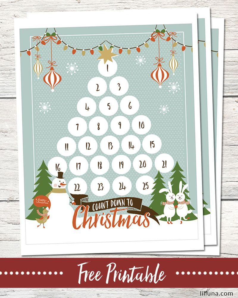 Countdown To Christmas Printable Christmas Countdown