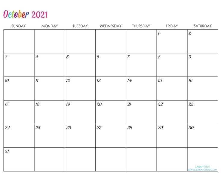 Custom Editable 2021 Free Printable Calendars In 2020