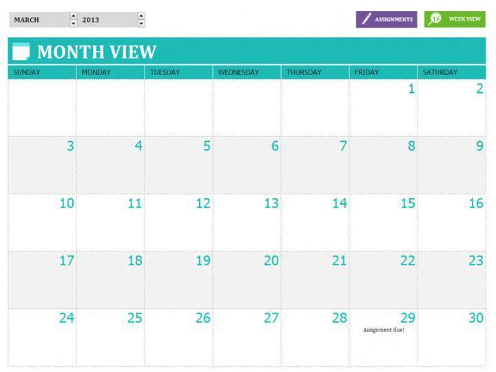 Customizable Monthly Calendar Printable