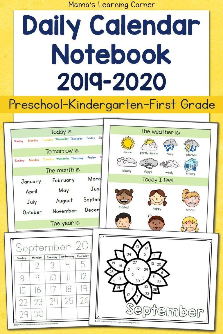 Daily Calendar Notebooks For 2020 2021 First Grade