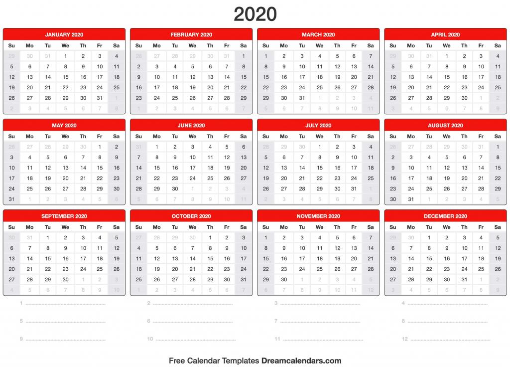 Date And Time 2020 Calendar Calendar Template 2020
