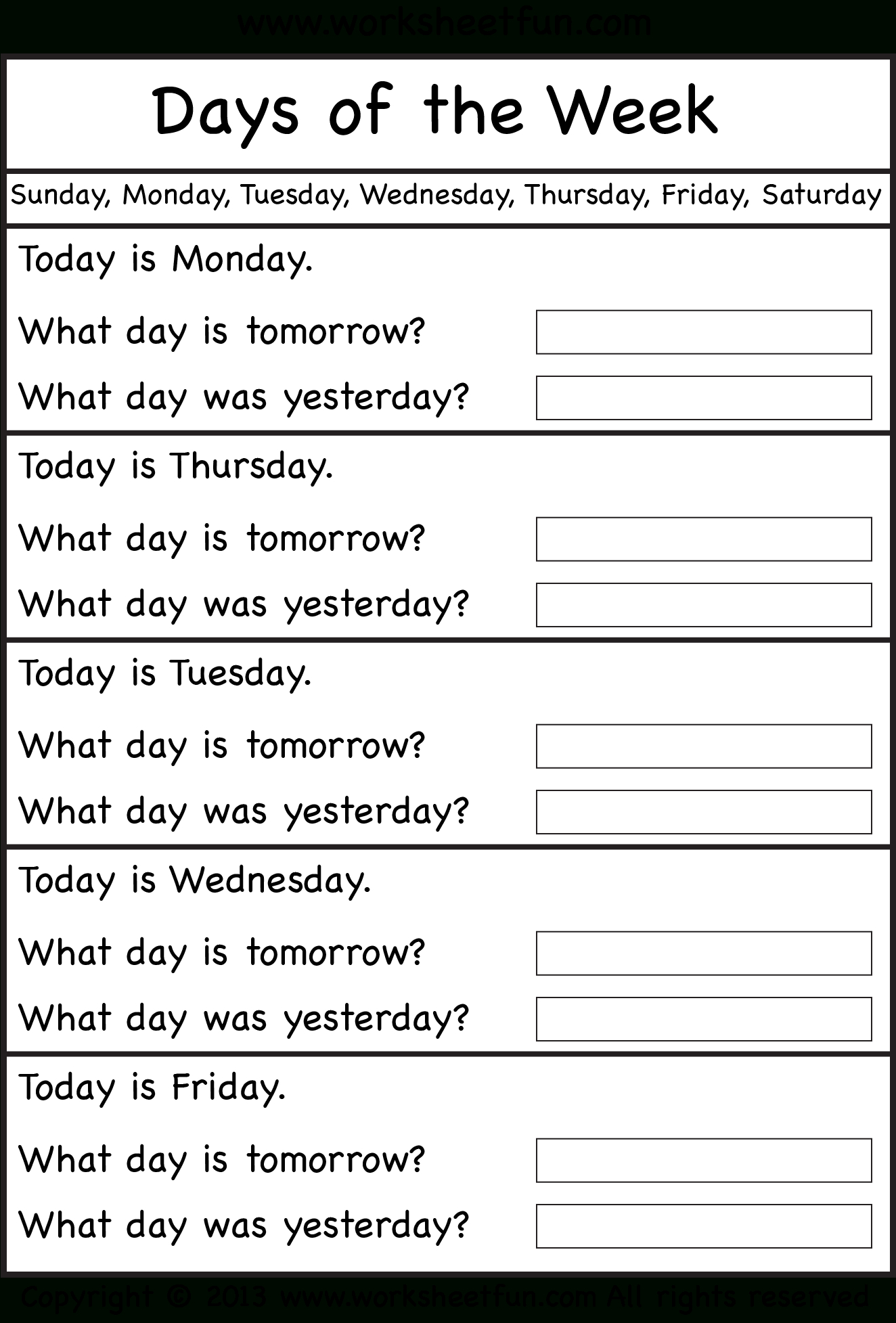 Days Of The Week Teaching English Learn English School