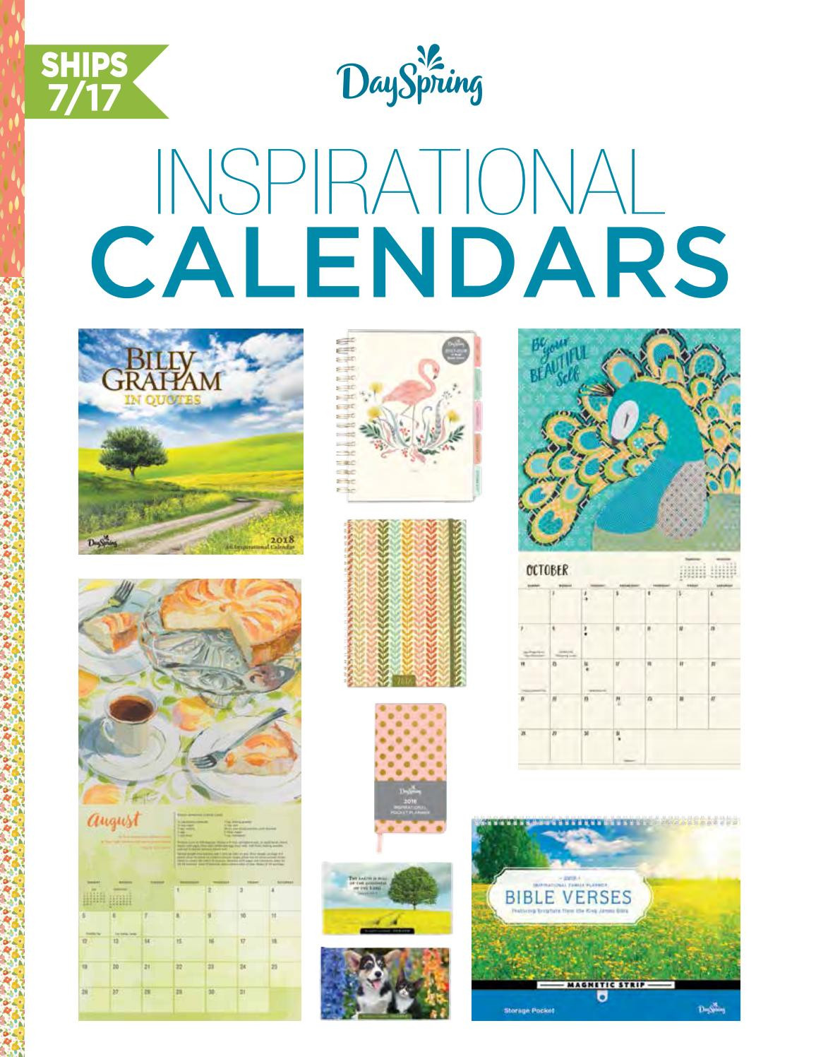 Dayspring Calendars 2018 Order Formscott Edwards Issuu