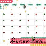 December 2018 Printable Colorful Calendar Kids Calendar