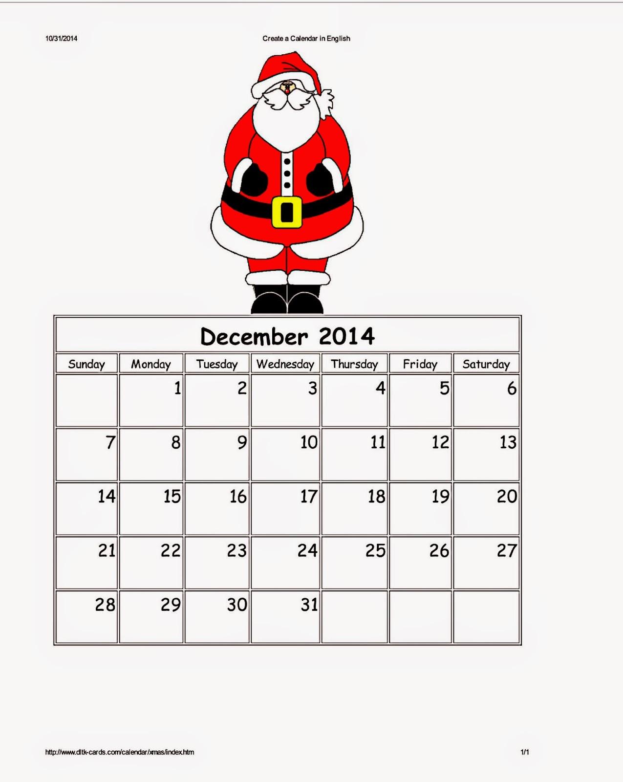 Dltks Custom Printable Holiday Calendars Parenting Times