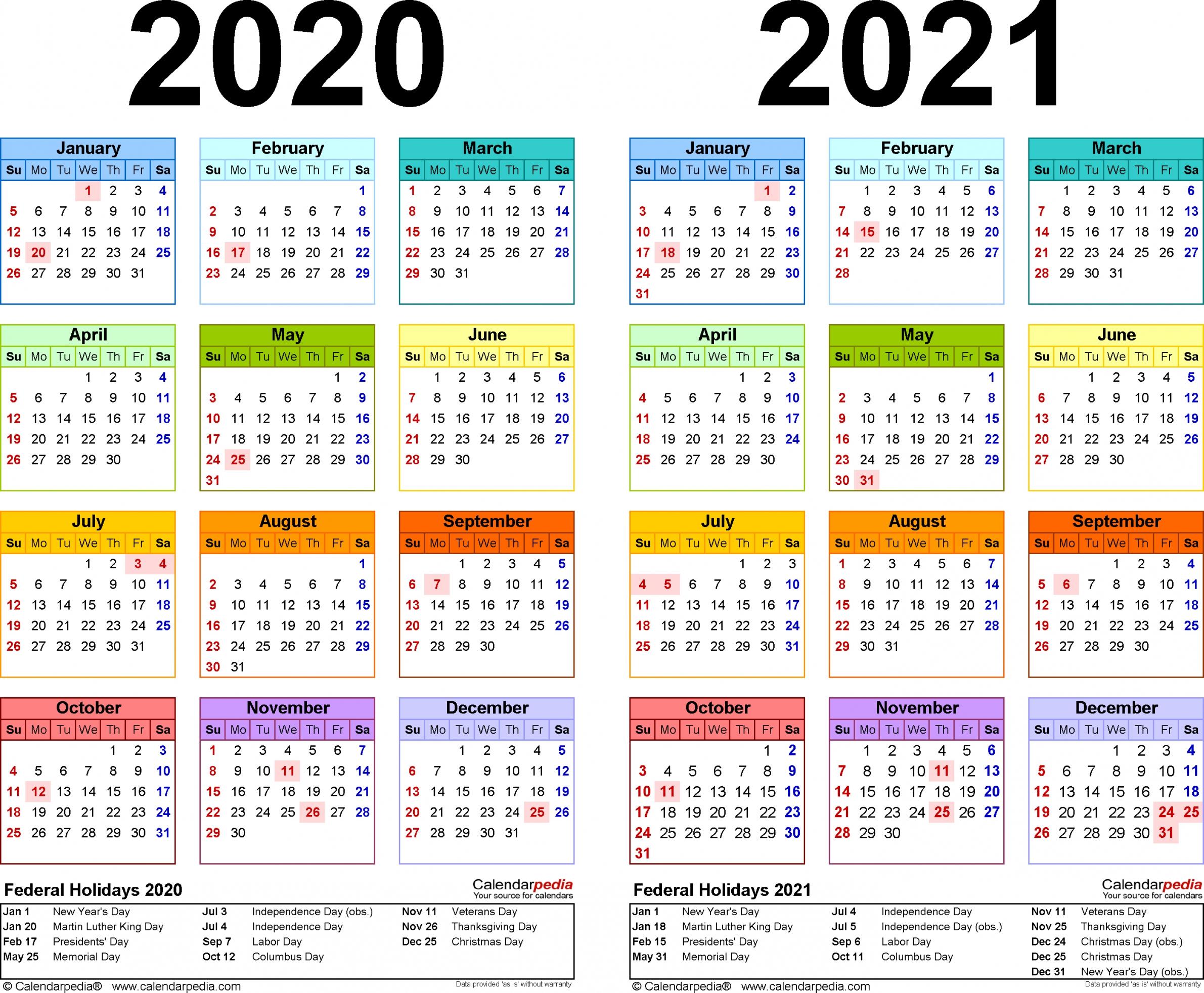 Download 2020 2021 Printable Calendar Free Letter Templates