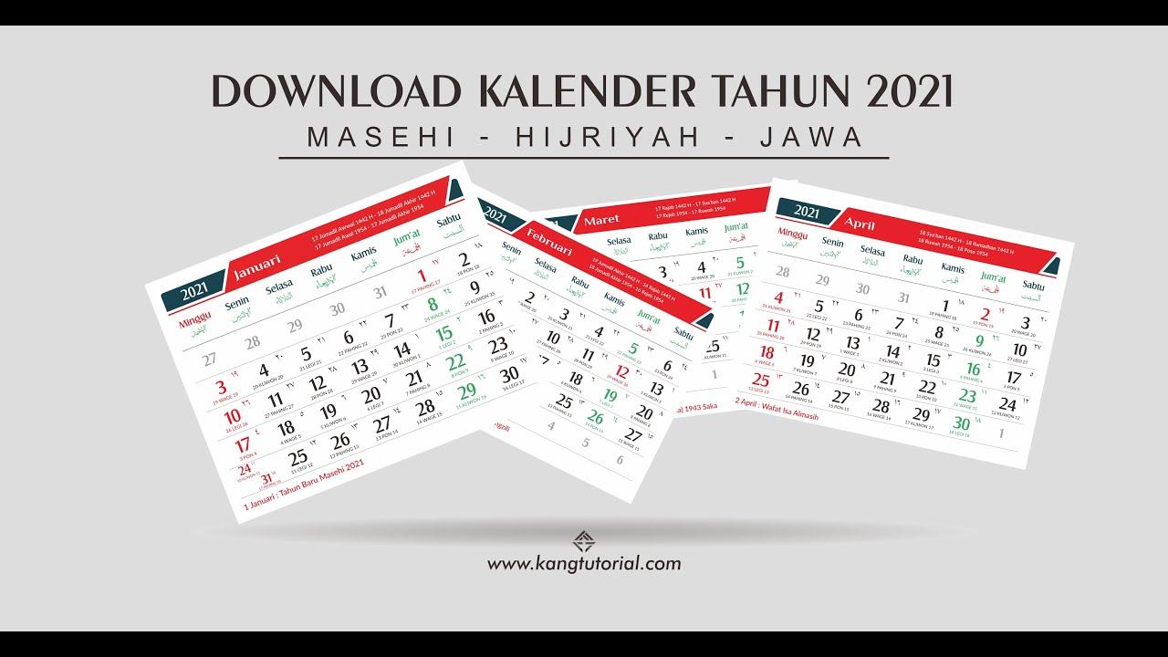 Download Desain Template Kalender 2021 Gratis Lengkap