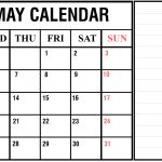 Download Free Printable May 2020 Calendar Pdf Excel