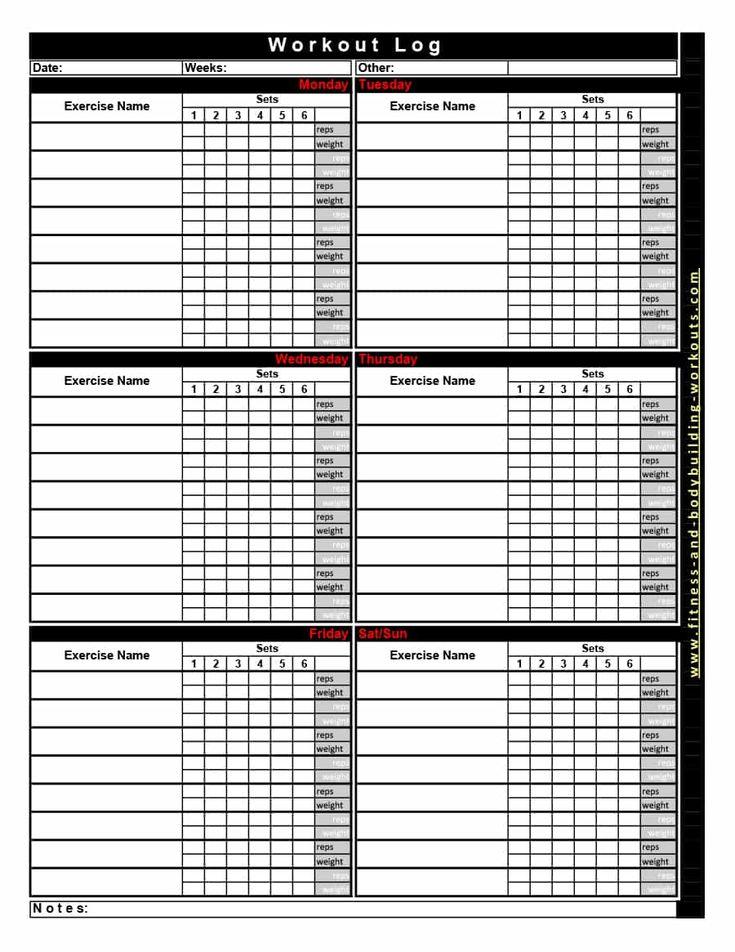 Download Workout Template 28 Workout Template Workout