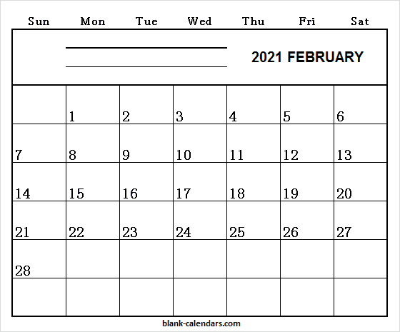 Editable Feb 2021 Template Free Blank Printable Calendar