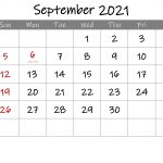 Editable September 2021 Calendar With Holidays Template