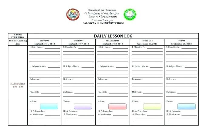 Electronic Printable Lesson Plan Templates For Teachers Of