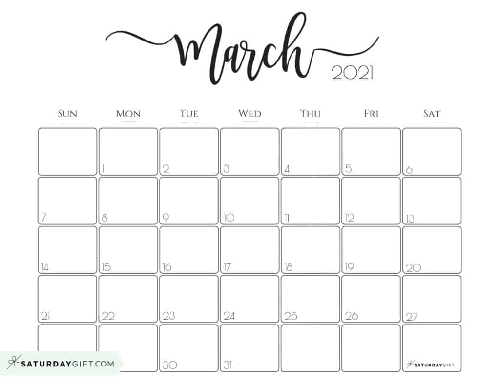 Elegant 2021 Calendarsaturdaygift Pretty Printable 2