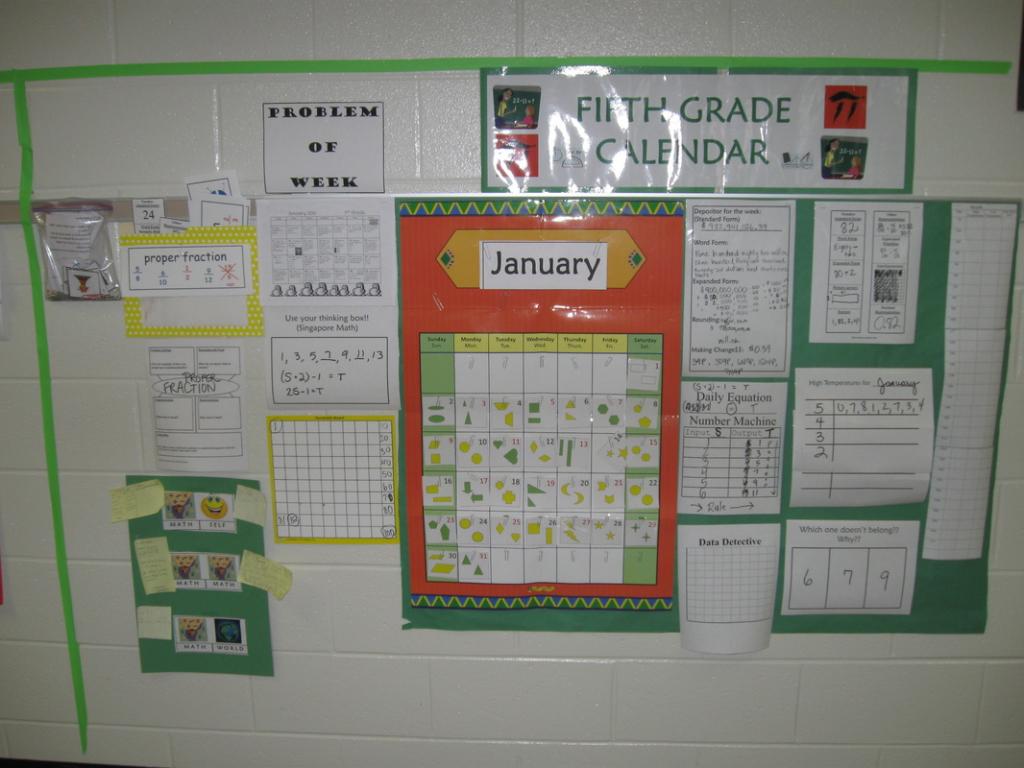 Everyday Count Calendar Pieces For Third Grade Calendar