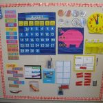 everyday math calendar board first grade classroom