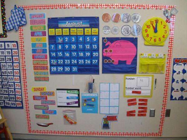 Everyday Math Calendar Board First Grade Classroom