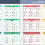 Excel Calendar Template 2021 Printable Spreadsheet
