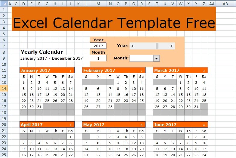 Excel Calendar Template Free Free Excel Spreadsheets And