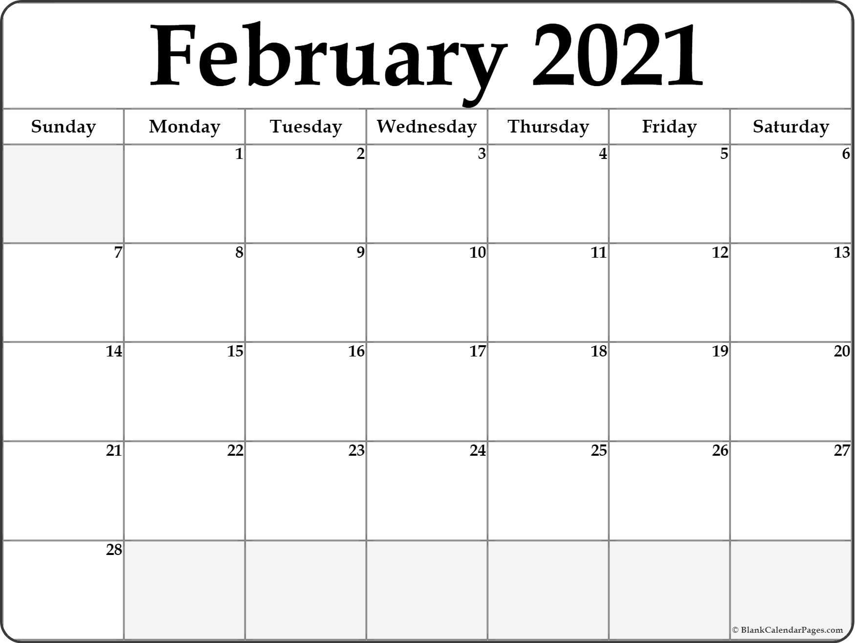 February 2021 Calendar 2 Avnitasoni